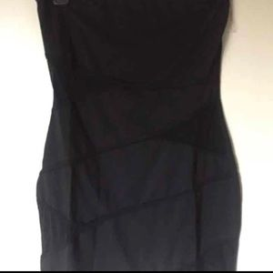 Little Black Fitted Dress, Sheer Cutouts